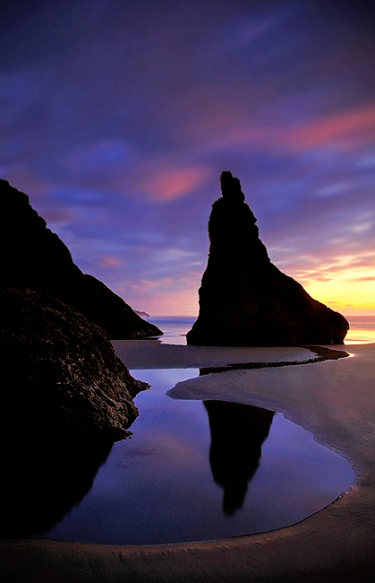 Silhouette: Bandon Beach, Oregon