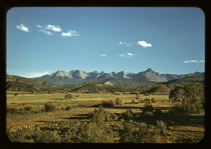 Sneffels Range 1940 by Russell Lee, Courtesy Library of Congress