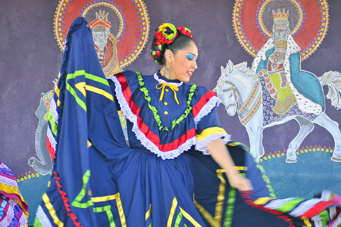 A heritage dancer at Fiesta De Reyes in Old Town San Diego.