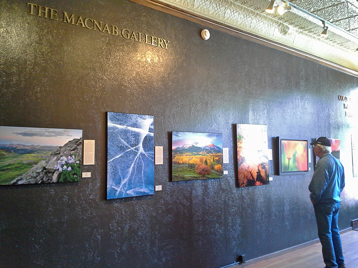 Viewing the Colorado Nature Photographers Invitation at the Steamboat Art Museum.