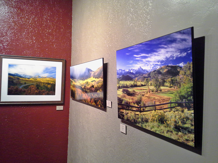 One of my images on the wall at the Steamboat Art Museum.