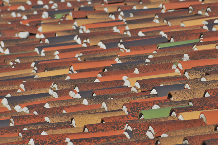 Terracotta tiles from the roof of the Presidio of San Diego.