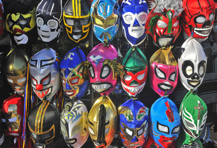 Mexican wrestling masks at an Old Town vendor.