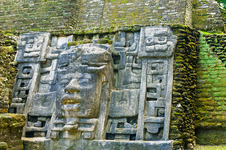 Mask Temple, Lamanai, Belize