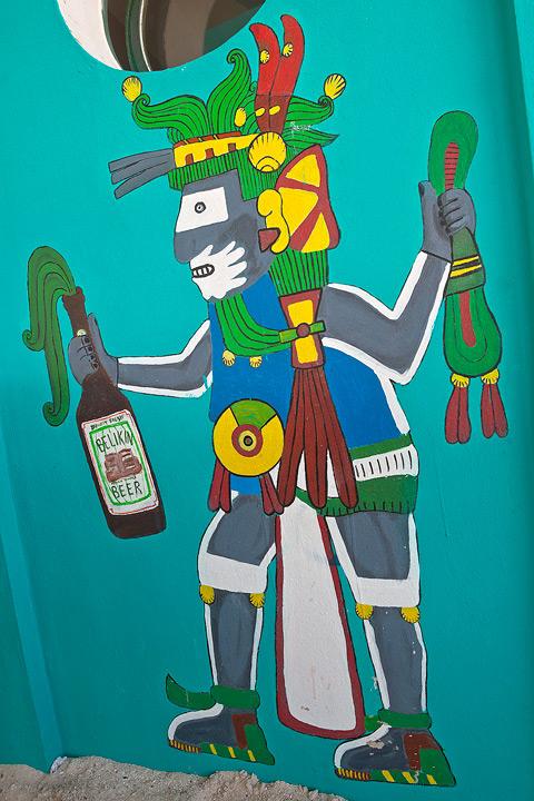 Belikin, the official beer of Belize.
